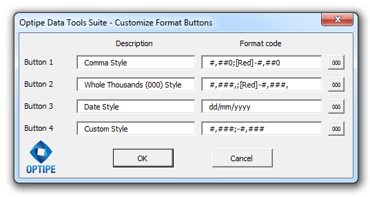Custimize Format Buttons