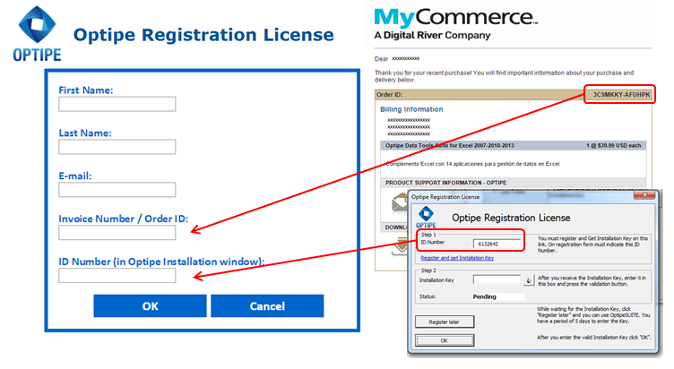 Optipe Registration